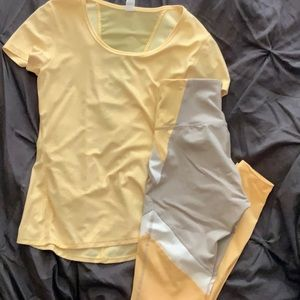 Yellow Workout Activewear
